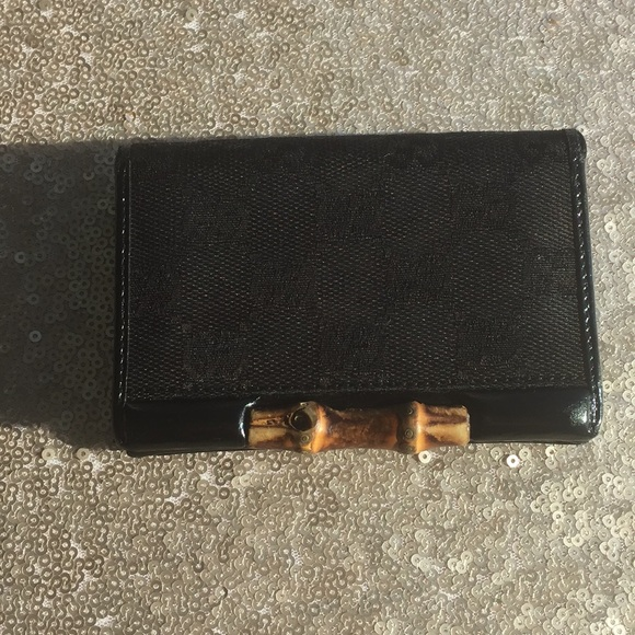 80e9030e6fa6 Gucci Bags | Vintage Card Holder Black And Bamboo | Poshmark